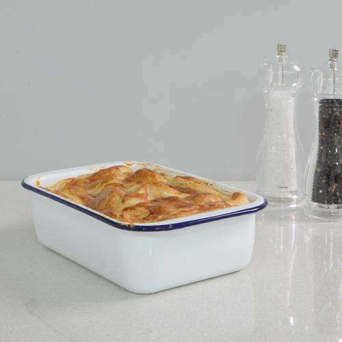 ProCook Enamel Bakeware Roasting Tin 27cm x 17cm x 7.5cm