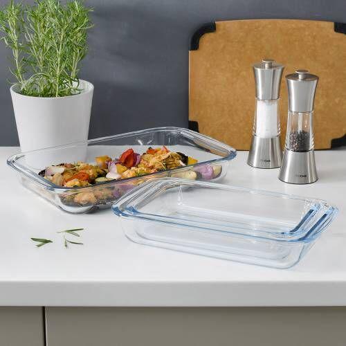 ProCook Glass Oven Dishes Set 3 Piece Rectangular