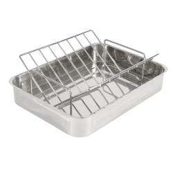 ProCook Stainless Steel Roasting Tin & Rack - 37cm x 27cm