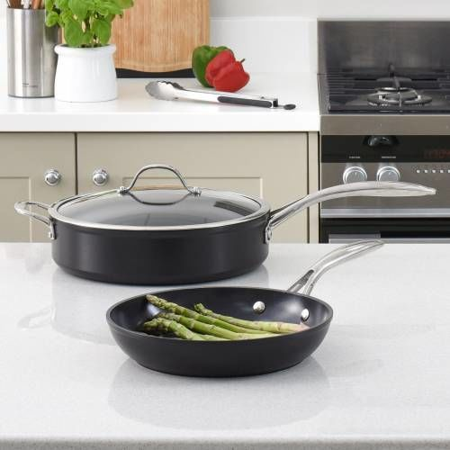Professional Ceramic Saute and Frying Pan Set 2 Piece