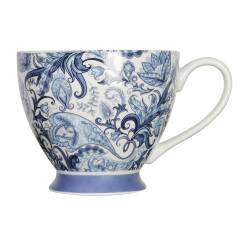 ProCook Footed Mug - Blue Paisley
