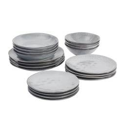 Malmo Dove Grey Mixed Dinner Set - 20 Piece - 4 Settings