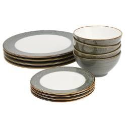 ProCook Napa Porcelain Dinner Set - 12 Piece - 4 Settings