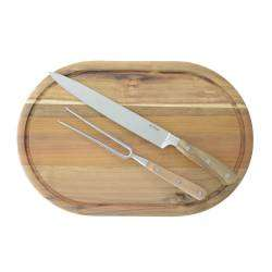 ProCook Acacia Carving Set - With Carving Board