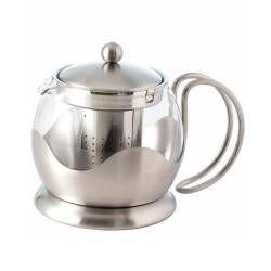 ProCook Satin Steel Teapot - 0.75 Litre