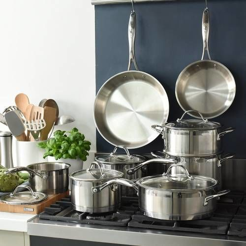 Professional Stainless Steel Cookware Set Uncoated 8 Piece