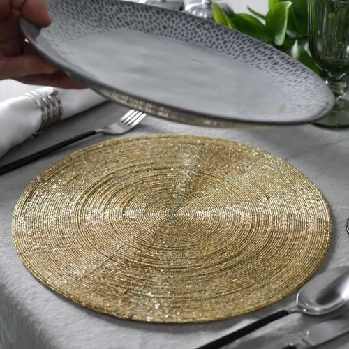 ProCook Beaded Placemat Gold