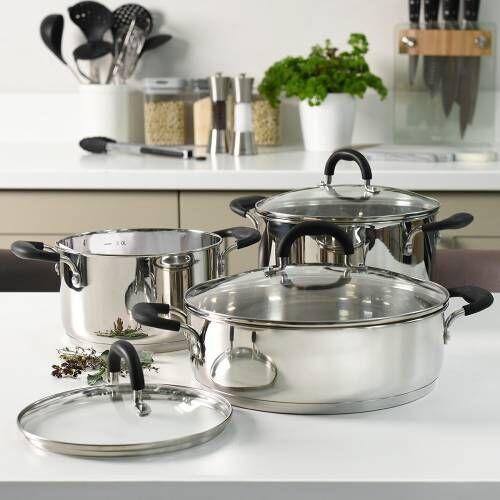 Gourmet Stainless Steel Casserole Set 3 Piece