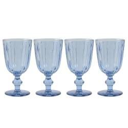 Lorenzo Blue Wine Glass - Set of 4 - 250ml