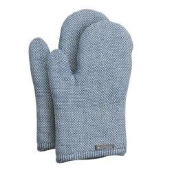 ProCook Oven Glove Pair - Blue and Biscuit
