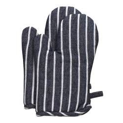 ProCook Oven Glove Pair - Navy Butcher's Stripe