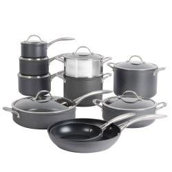 Professional Anodised Cookware Set - 10 Piece