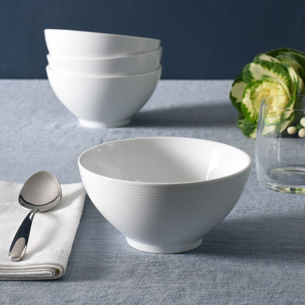 White bone china cereal bowl soup bowl SET OF 4 cereal bowls bowls