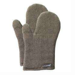 ProCook Oven Glove Pair - Black and Biscuit Check