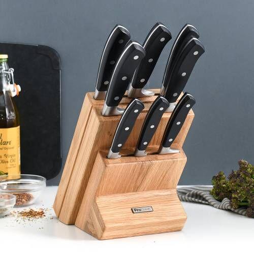 Gourmet X30 Knife Set 8 Piece and Wooden Block