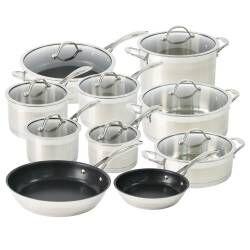 ProCook Professional Steel Cookware Set - 10 Piece