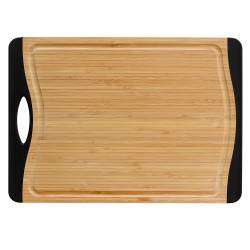 ProCook Non Slip Bamboo Chopping Board - Large Black Ends