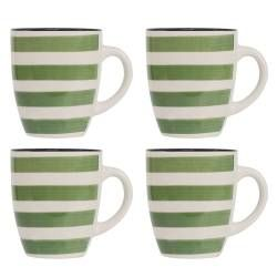 Coastal Stoneware Green Mug - Set of 4 - 380ml