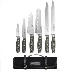 Elite Ice X50 Knife Set - 6 Piece and Canvas Knife Case