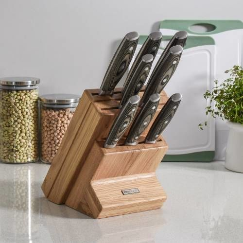 Elite Ice X50 Knife Set 8 Piece and Wooden Block