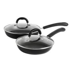 Gourmet Non-Stick Frying Pan with Lid Set - 20 and 24cm