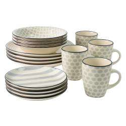 ProCook Salcombe Stoneware Dinner Set - 16 Piece Set - 4 Settings