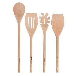 ProCook Wooden Utensil Set - 4 Piece