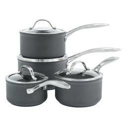 Professional Anodised Saucepan Set - 4 Piece