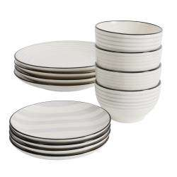 ProCook Salcombe Stoneware Dinner Set - 12 Piece - 4 Settings