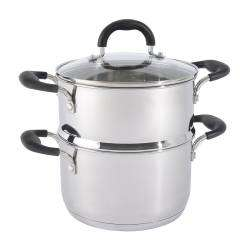 Gourmet Stainless Steel Steamer Set - 20cm / 1 tier