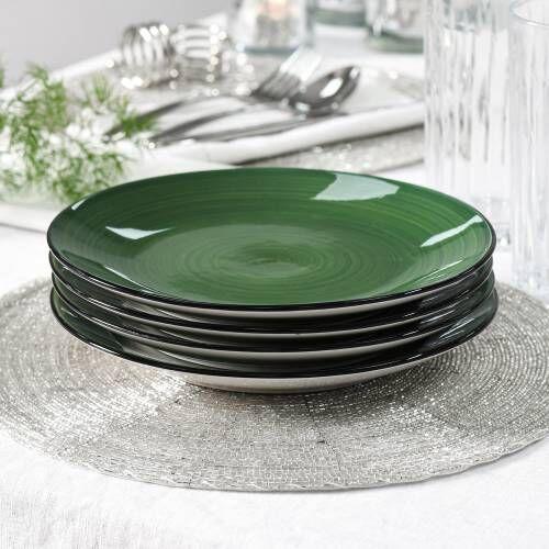 Coastal Stoneware Green Side Plate Set of 4 - 21cm