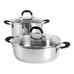 Gourmet Stainless Steel Casserole Set - 2 Piece
