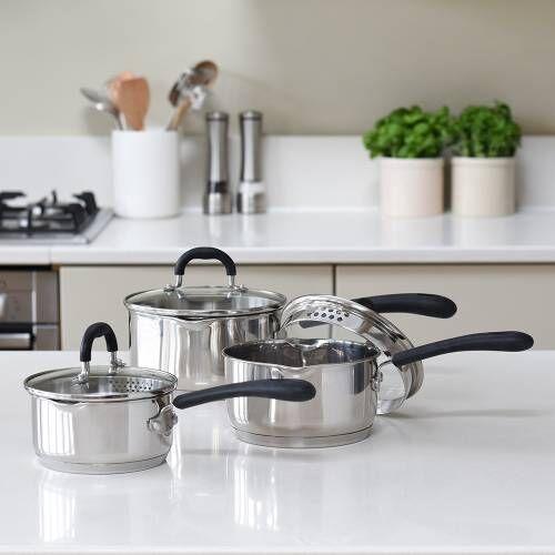 Gourmet Stainless Steel Saucepan Set 3 Piece