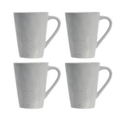 ProCook Malmo Dove Grey Stoneware Mug Set - 4 Piece