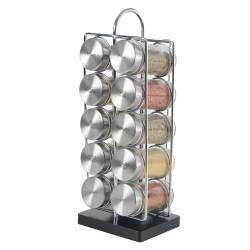 ProCook Contemporary Spice Rack - 10 Jars With Spices
