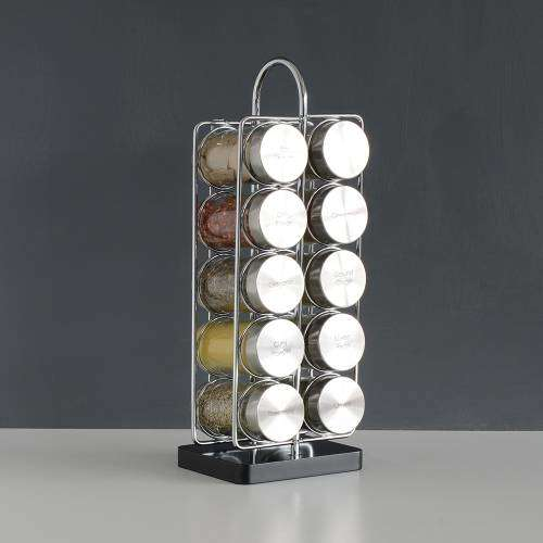 ProCook Contemporary Spice Rack 10 Jars With Spices