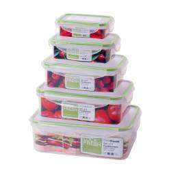 ProCook Lock & Fresh Storage Set - 5 Piece Rectangular