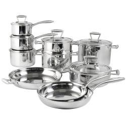 Elite Tri-ply Cookware Set - Uncoated 10 Piece