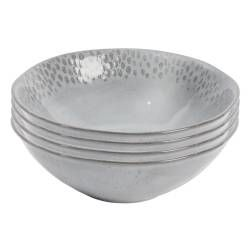 Malmo Dove Grey Teardrop Cereal Bowl - Set of 4 - 19cm