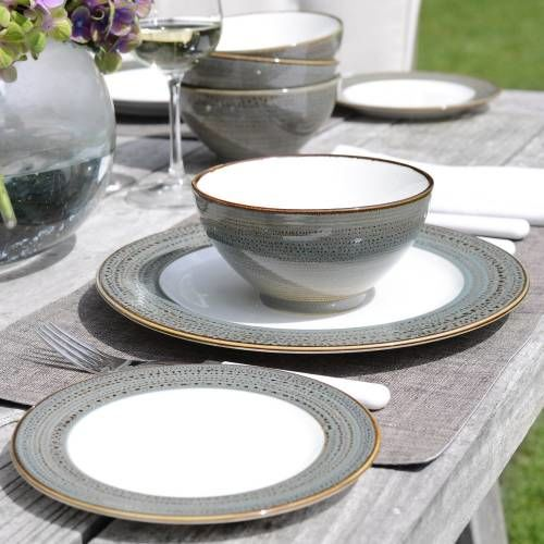 Napa Porcelain Dinner Set with Cereal Bowls 12 Piece - 4 Settings