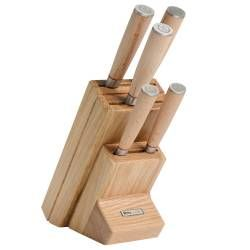 Nihon X50 Knife Set - 5 Piece and Wooden Block