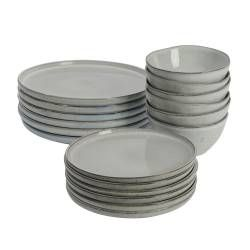 ProCook Oslo Stoneware Dinner Set - 18 Piece - 6 Settings