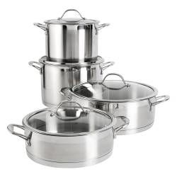 Professional Stainless Steel Casserole Set - 4 Piece