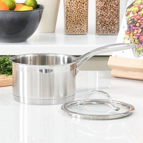 Professional Stainless Steel Saucepan & Lid 16cm / 1.9L