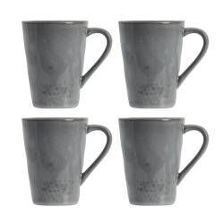 ProCook Malmo Charcoal Stoneware Mug Set - 4 Piece