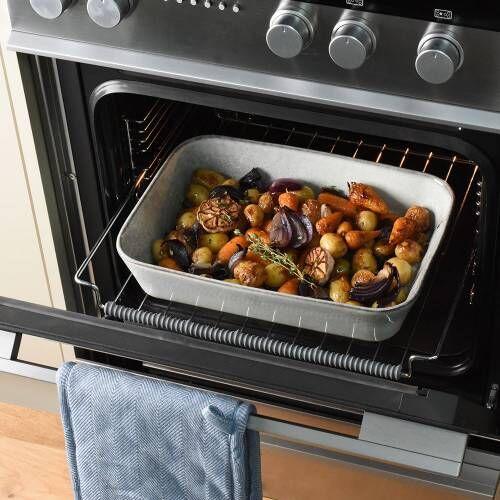 ProCook Stoneware Oven Dish 35cm x 25cm Reactive Grey
