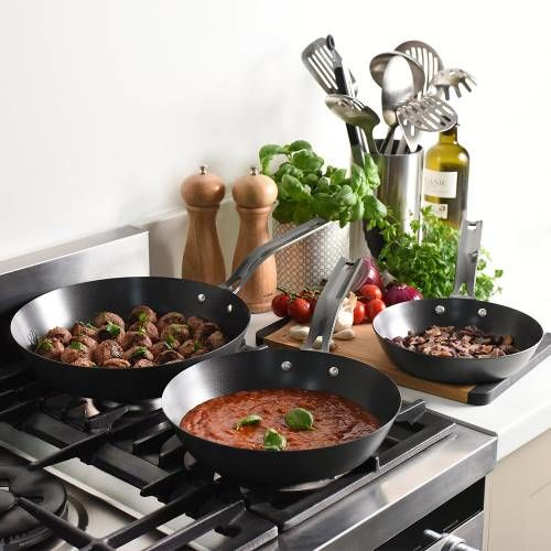 ProCook Carbon Steel Frying Pan Set 3 Piece