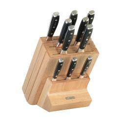 ProCook Professional X50 Knife Set - 10 Piece and Wooden Block
