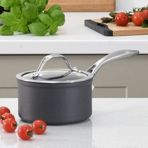 Professional Anodised Saucepan & Lid 14cm / 1.2L