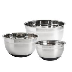 ProCook Stainless Steel Mixing Bowl Set - 3 Piece